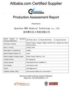 Eva köpük fabrika sertifika