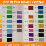 Color card for Glitter eva foam sheet