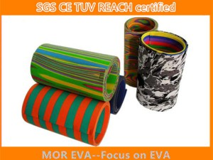 Mix color eva foam roll