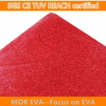 Red glitter eva foam sheet
