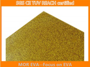Gold glitter eva foam sheet