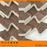 Madera graneado EVA alfombra de rompecabezas