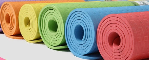 multiple color yoga mats