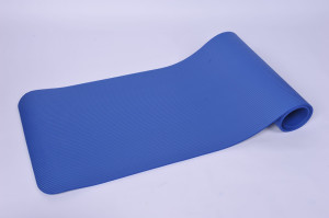 blue nbr yoga mat