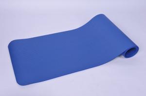 blauwe nbr yoga mat