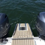 Fusion VT7 power boat with Sand color marine mat
