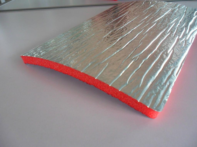 Xpe foam coated aluminum fire retardant heat insulation for Fire resistant roofing