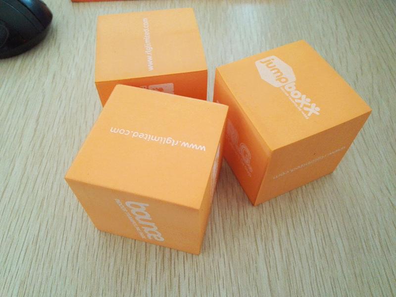 Eva Foam Cube With Silk Printing Mor Eva Foam